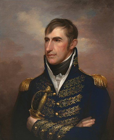 William Henry Harrison, circa 1813, painted by Rembrandt Peale.  Naitonal Portrait Gallery