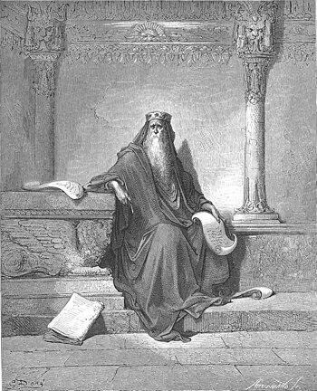 English: King Solomon in Old Age (1Kings 4:29-...