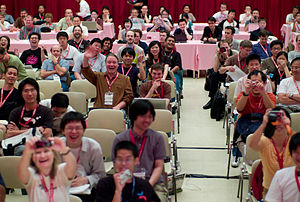 Audience during my Wikimania talk