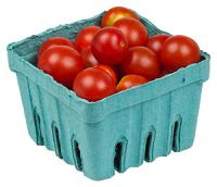 A pack of organic cherry tomatoes, from a loca...