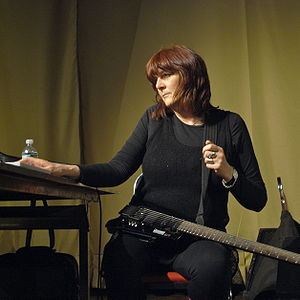 English: Cosey Fanni Tutti performing with Thr...