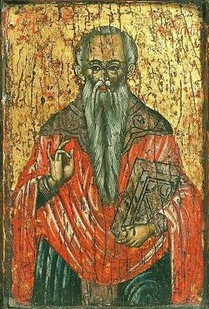 Cropped from an icon of Saint Charalampus, Gre...
