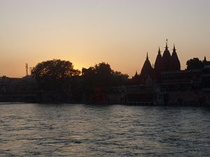 Ganga River in Haridwar, Uttaranchal, India. H...
