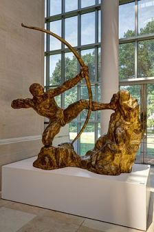 Hercule archer, bronze doré