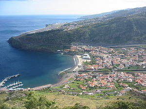 The town of Machico in the shadow of the Inter...