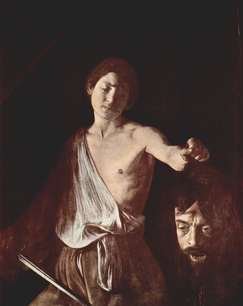 David and Goliath, Caravaggio