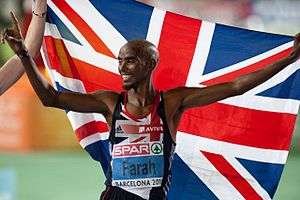 English: Mo Farah at the 2010 European Athleti...