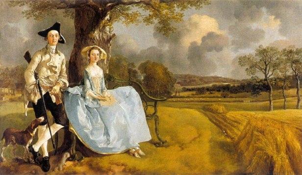 """Mr and Mrs Andrews"" byThomas Gainsborough"