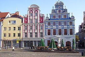 English: Facades of new buildings in Szczecin'...