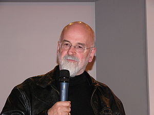 Terry Pratchett during the presentation of Ste...