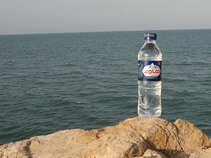 English: Damavand Mineral Water bottle