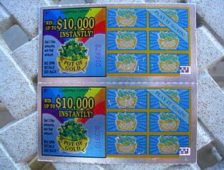English: 5 Year Anniversary California Lottery...