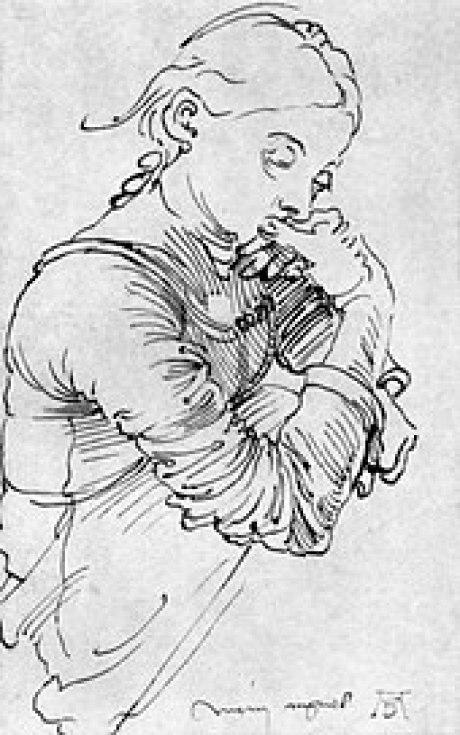 Image result for albrecht durer sketch of his wife