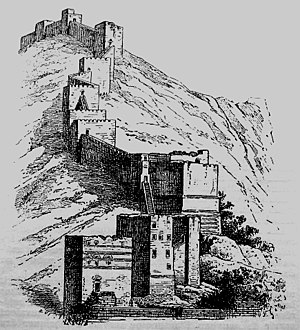 The ramparts of Antioch at the Mount Silpius d...