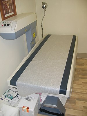 A machine to measure bone density to check for...