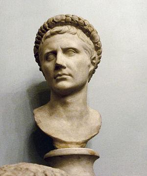 Bust of Gaius Julius Caesar Augustus Octavius,...