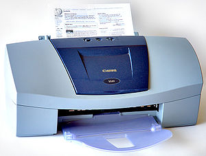 This image shows a canon S520 ink jet printer.