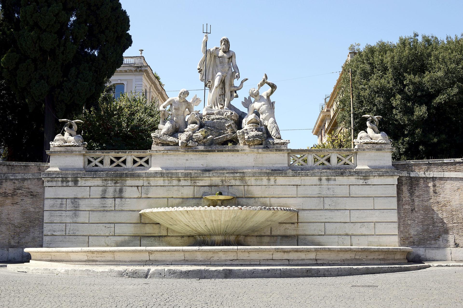 Fontana del Nettuno Piazza del Popolo  Wikipedia