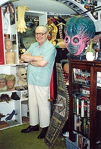 Forrest J Ackerman at his Ackermansion, 1990 -...