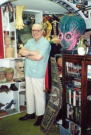 Forrest J Ackerman at his Ackermansion, 1990 -...