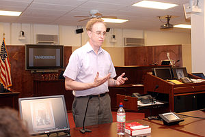 English: Frederic Lederer, director of the Cen...