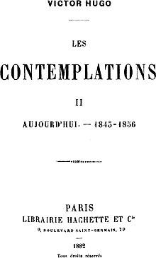 Les Contemplations De Victor Hugo : contemplations, victor, Contemplations, Wikipedia