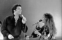 Janis Joplin y Tom Jones en 1969