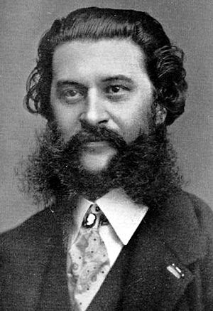 Johann Strauss II with a large beard, moustach...