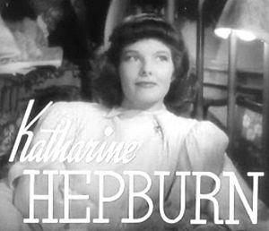 Screenshot of Katharine Hepburn from the trail...