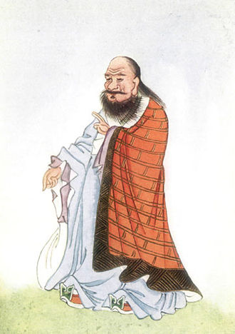 Depiction of Laozi in E.T.C. Werner's Myths and Legends of China.