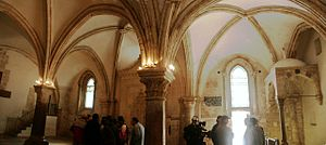 The last supper room in Jerusalem, Cenacle