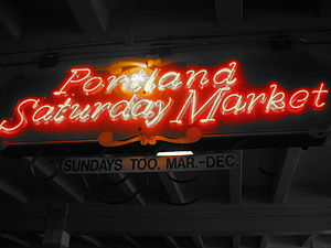 English: Portland Saturday Market sign.