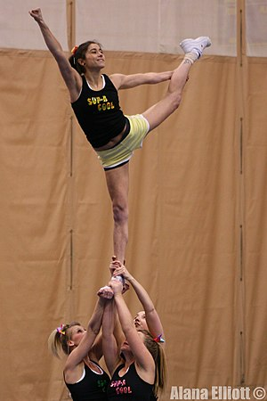 SUP-A-COOL cheerleaders doing a scale