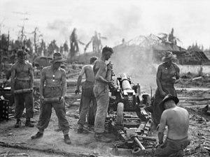 Australian War Memorial image 110822. Gunners ...