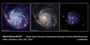 Spiral Galaxy M101 - NASA's Great Observatories