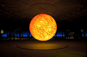 "Model of the sun in the ""Sternstunden&quo..."