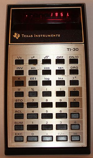 English: Texas Instruments, TI-30 electronic c...