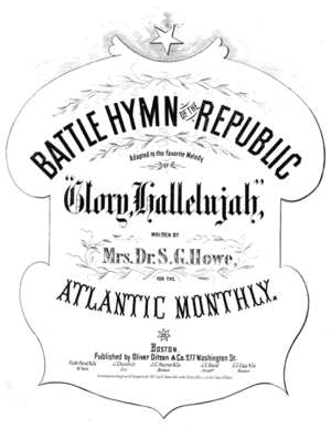 "Cover of sheet music for ""The Battle Hymn..."