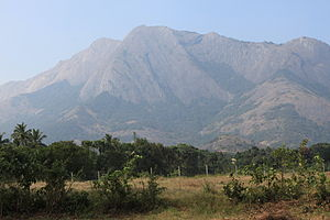 English: The Majestic Western Ghats along the ...