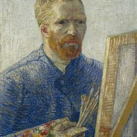"""Self-Portrait as a Painter"" by Vincent van Gogh"