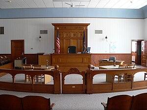 Wayne County Courthouse (Nebraska) courtroom 1