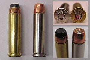 Rimmed .357 Magnum revolver ammunition
