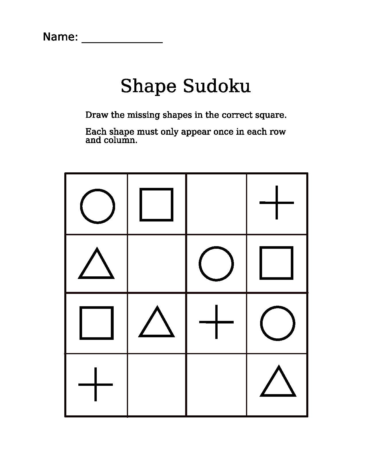 File 4x4 Shapes Sudoku Puzzle