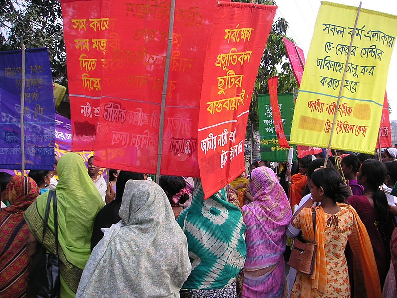 March 8 rally in Dhaka, organized by Jatiyo Nari Shramik Trade Union Kendra (National Women Workers Trade Union Centre), an organization to the Bangladesh Trade Union Kendra. Photo: Soman