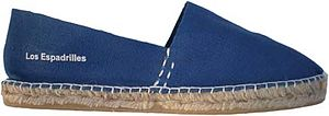 English: blue espadrille from Los Espadrilles.com