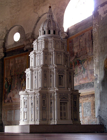 model renaissance church inside the san stefan...