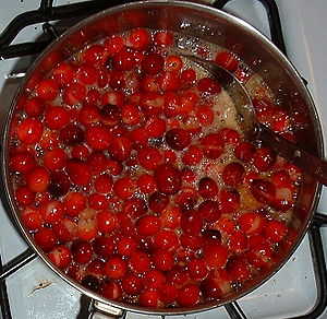 Cranberries popping