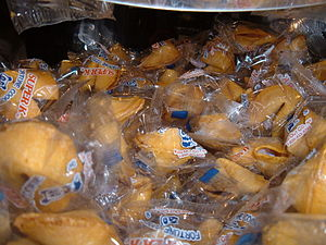 Fortune cookies at Moonstar Buffet in Daly Cit...