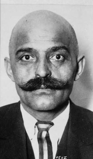 Georges Gurdjieff, head-and-shoulders portrait...