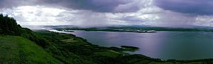 View of Lower Lough Erne from Cliffs of Magho